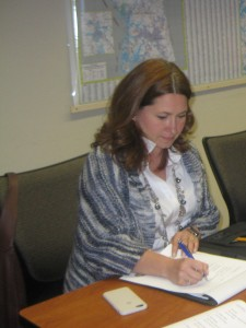 Melinda Bales, LKN Transportation Commission Chairmwoman, takes notes at a recent meeting. The future of the commission is uncertain
